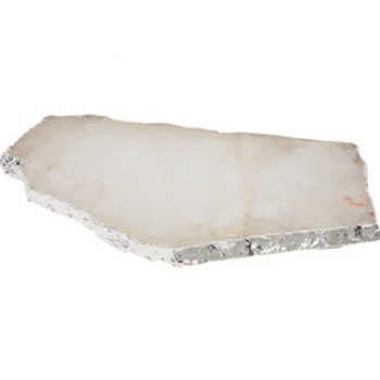 Decor/Accessories - Crystal Kiva Platter I Shop HDB - crystal platter, crystal platter with silver trim, crystal slab platter,