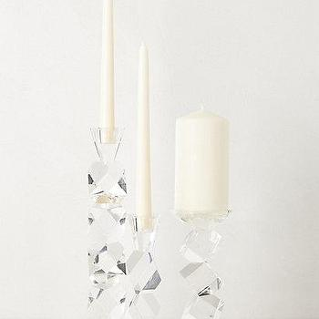 Decor/Accessories - Crystal Ladder Candle Holders I anthropologie.com - crystal candle holder, geometric crystal candle holder, chunky crystal candle holder, modern crystal candle holder,