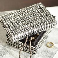 Decor/Accessories - Studded Jewelry Box | Pottery Barn - studded jewelry box, nailhead trimmed jewelry box, nailhead studded jewelry box,