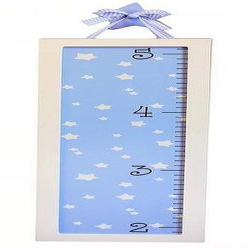 Art/Wall Decor - Growth Chart I New Arrivals Inc - blue and white growth chart, blue and white star growth chart, blue and white framed growth chart,