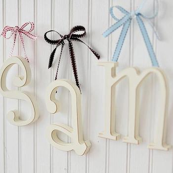 Art/Wall Decor - Small Wooden Letters I New Arrivals Inc - white wall letters, white wooden wall letters, kids wall letters,