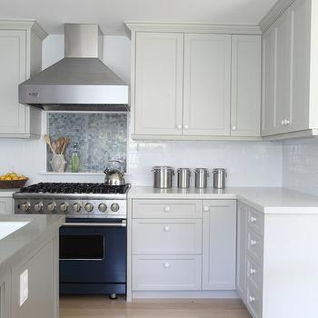 Gray Cabinets, Contemporary, kitchen, Benjamin Moore Brushed Aluminum, Von Fitz Design