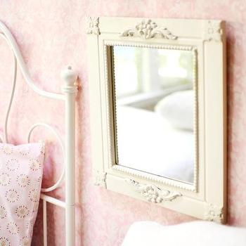 Mirrors - White Carved Mirror I New Arrivals Inc - white carved mirror, antique white carved mirror, white carved kids mirror,