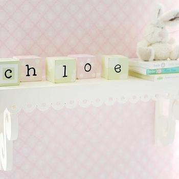 Art/Wall Decor - Shelf for Nursery I New Arrivals Inc - white nursery shelf, scalloped white nursery shelf, scalloped white shelf,