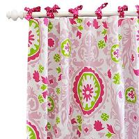 Window Treatments - Strawberry Fields Curtain Panels I New Arrivals Inc - pink suzani drapes, pink suzani curtains, pink and green suzani drapes, pink and green suzani curtains,