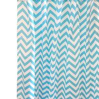 Window Treatments - Orange Crush Curtain Panels I New Arrivals Inc - turquoise chevron drapes, turquoise chevron curtains, turquoise chevron drapes with orange tabs, turquoise chevron curtains with orange tabs,