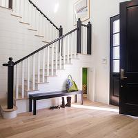 Von Fitz Design - entrances/foyers - under the stairs room, under the stairs playroom, room under the stairs, playroom under the stairs, secret playroom, secret room, hidden room, hidden playroom,