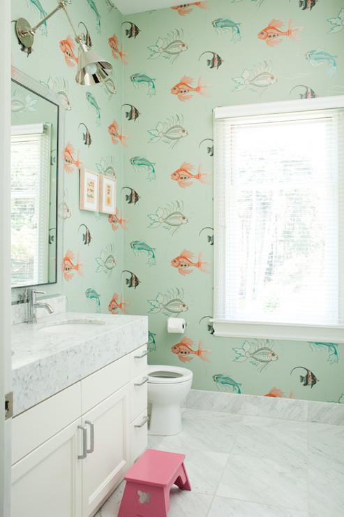 Fish Wallpaper For Bathroom 2017 Grasscloth Wallpaper