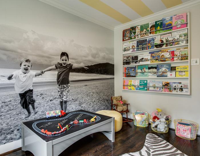 Playroom Mural Girl Room Benjamin Moore Classic Gray
