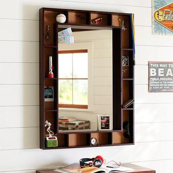Mirrors - Pinboard Display Mirror | PBteen - pinboard display mirror, vintage style display mirror, mirror with display frame,