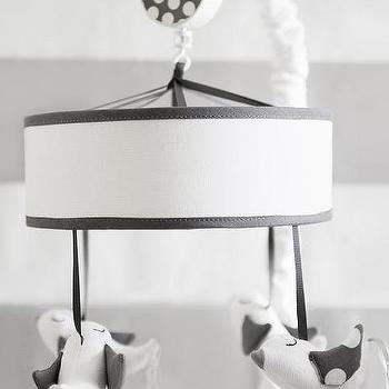 Decor/Accessories - Gray Mobile for Baby I New Arrivals Inc - gray bird mobile, gray and white bird mobile, gray and white bird crib mobile,