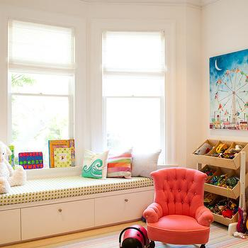 Playroom Window Seat, Transitional, girl's room, Artthaus