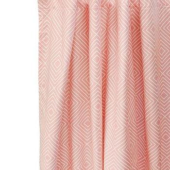 Window Treatments - Brooklyn Baby Curtain Panels I New Arrivals Inc - pink diamond patterned drapes, pink diamond patterned curtains, pink diamond motif drapes, pink diamond motif curtains,