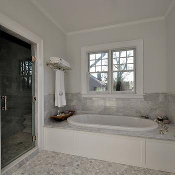Oval Bathtub, Transitional, bathroom, Anthony James Builders