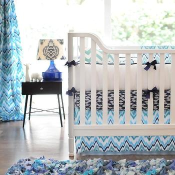 Bedding - Navy Crib Bedding I New Arrivals Inc - navy green and teal crib bedding, modern navy green and teal crib bedding, graphic navy green and teal crib bedding,