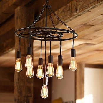 Lighting - Finn Pendant | PBteen - industrial pendant, steel pendant light, industrial edison pendant, steel pendant with edison bulbs,