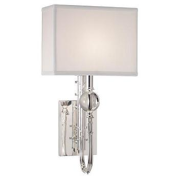 Lighting - Mary McDonald Collection Sconce design by Robert Abbey | Burke Decor - silver plated wall sconce, contemporary silver plated wall sconce, silver plated crystal wall sconce,