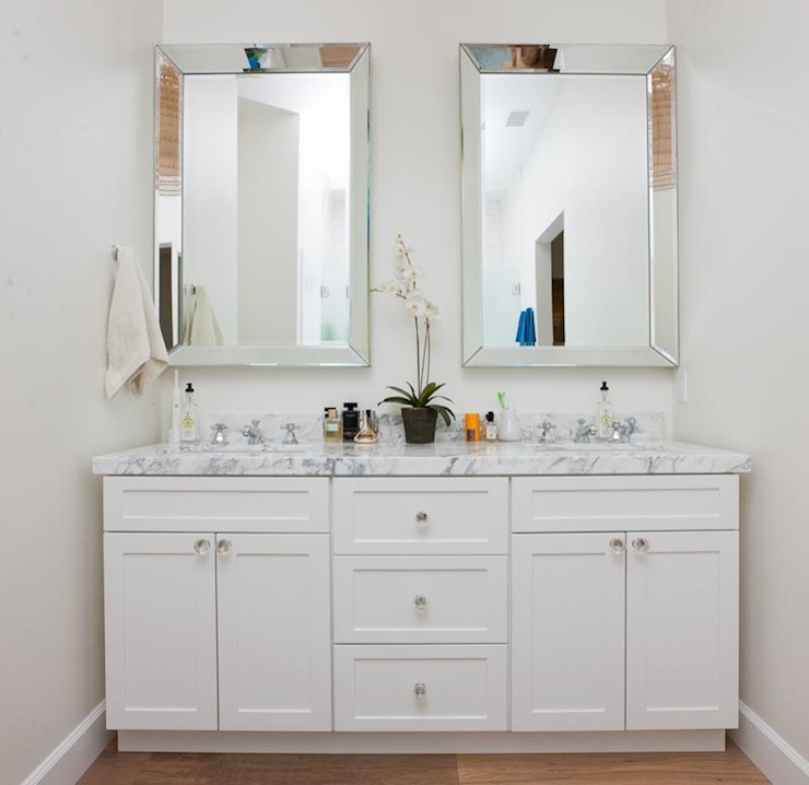 Beveled Mirors Transitional Bathroom Christiano Homes
