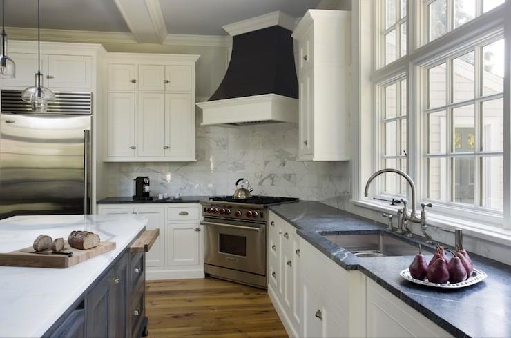 gooseneck faucet, corner oven, corner stove, corner range, black range ...