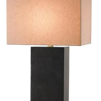 Lighting - Sergei Table Lamp design by Currey & Company I Burke Decor - contemporary black table lamp, black penshell table lamp, modern black table lamp,