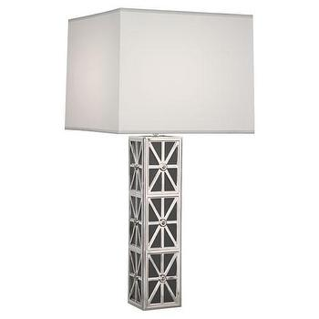 Lighting - Mary McDonald Table Lamp design by Robert Abbey | Burke Decor - silver and black table lamp, silver and black geometric table lamp, modern silver and black table lamp,
