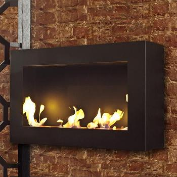 Miscellaneous - Bensen XL Burner design by BrasaFire I Burke Decor - wall mount fireplace, contemporary wall mounted fireplace, outdoor wall mounted fireplace,