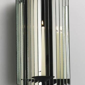Art/Wall Decor - Cosmo Mirrored Candleholder design by Cyan Design | Burke Decor - mirrored candle sconce, mirrored candleholder, faceted mirrored candle sconce,