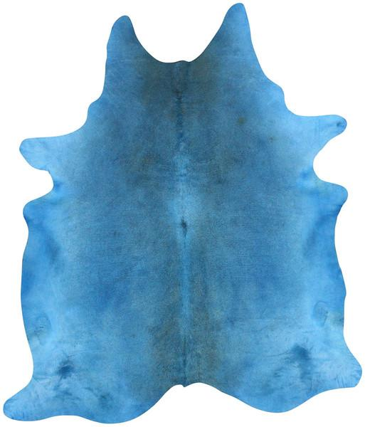 Azure Cowhide Area Rug In Blue Design By NuLoom