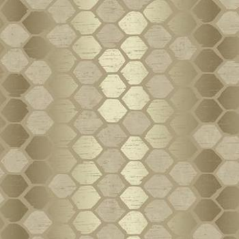 Wallpaper - Abstract Geometric Wallpaper in Golds by Seabrook | Burke Decor - gold geometric wallpaper, metallic gold geometric wallpaper, modern gold wallpaper,