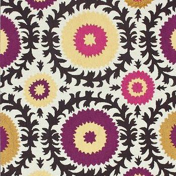 Rugs - Karina Hand-Tufted Area Rug in Multi design by NuLoom I Burke Decor - purple and orange suzani rug, purple black and orange graphic rug, purple and orange suzani style rug,