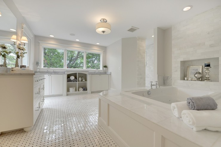 Bathtub Niche Transitional Bathroom Divine Custom Homes