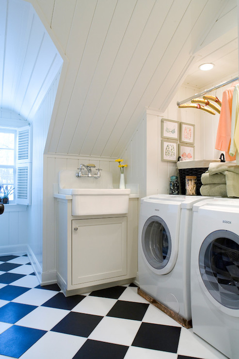 Checkerboard Floor Vintage Laundry Room Jan