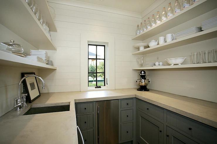 Butler Pantry Transitional Kitchen HAR
