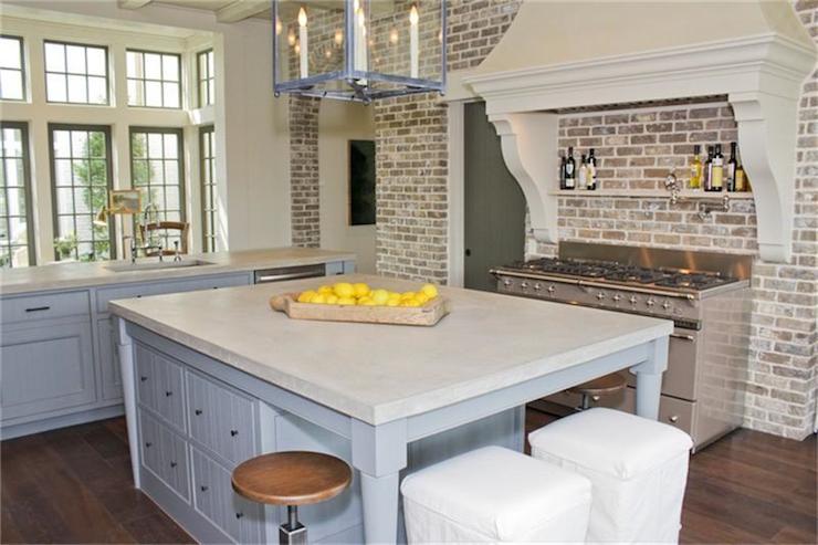 brick kitchen transitional kitchen har