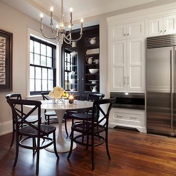 Black and White Dining Room, Contemporary, kitchen, The Design Company