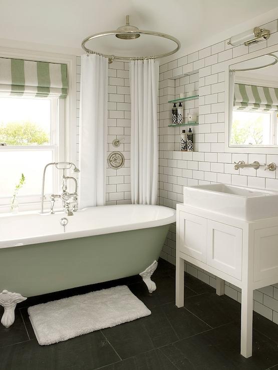 White and green bathroom vintage bathroom leivars for White and green bathroom ideas