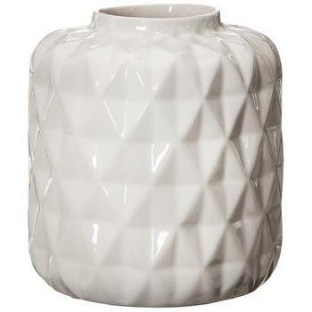 Threshold Faceted Stoneware Vase I Target