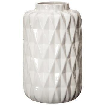 Decor/Accessories - Threshold Faceted Stoneware Vase I Target - modern white vase, white faceted vase, white faceted stoneware vase, contemporary white vase,