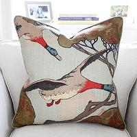Pillows - Mulberry Flying Ducks Pillow Cover in Sky by PinkandPiper I Etsy - flying duck pillow, flying duck print pillow, gray flying duck pillow,