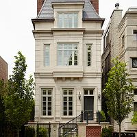 Burns and Beyerl Architects - home exteriors - mansard roof, french roof, french home, french home exterior, dual chimneys, double chimneys,