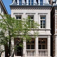 Burns and Beyerl Architects - home exteriors - french home, french home exterior, underground garage,  Exquisite French home features underground