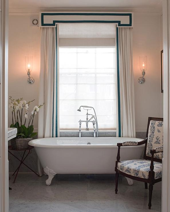 Bathroom window valances