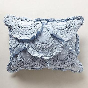 Bedding - Rivulets Shams I anthropologie.com - ruffled blue sham, ruffled blue pillow case, ruffled blue pillow sham,