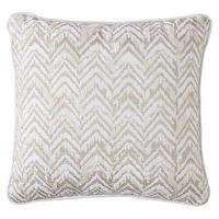 Pillows - Threshold Embroidered ZigZag Decorative Pillow I Target - beige and white pillow, beige and white zigzag pillow, embroidered beige and white zigzag pillow,