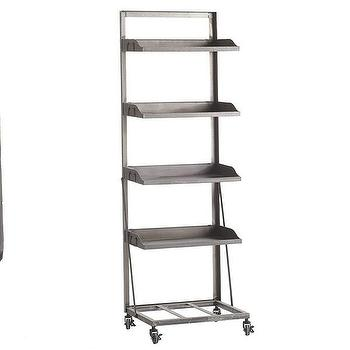 Storage Furniture - Rolling Shelf | Wisteria - rolling shelf, industrial shelf, rolling industrial style shelf,