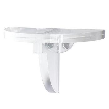 Art/Wall Decor - Floating Bracket | Wisteria - acrylic shelf, acrylic bracket, see through shelf,