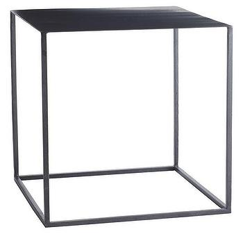 Tables - Cubist Table | Wisteria - iron side table, minimalist side table, minimalist iron side table, square shaped iron side table,