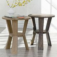 Tables - Napa Solid Mango Accent Table | The Company Store - mango wood accent table, weathered wood accent table, round mango accent table,