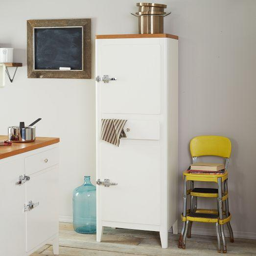 Cabin kitchen tower white west elm - West elm bathroom storage ...