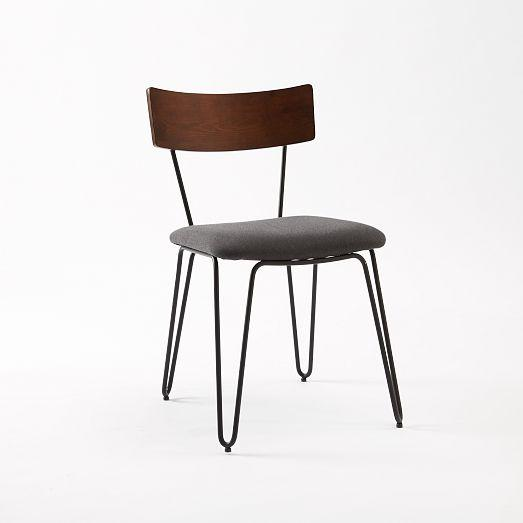 Hairpin Leg Dining Chair Upholstered West Elm